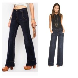 Free People high waisted bell bottom jeans NWOT